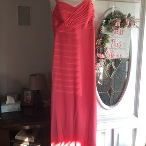 Beautiful Coral Bridesmaid Dress
